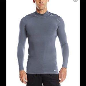 Adidas Mens Techfit Base Warm Mock Training shirt
